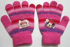 Gloves printed Minnie mouse Disney fushia pink,  Size 4 for children.