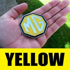 CHROME YELLOW MG BADGE MGTF TF MGF ZR ZS ZT ZT-T ROVER 59MM