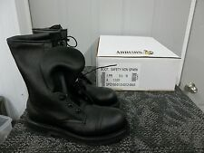 ADDISON MEN BOOT BLACK SAFETY SHOE STEELTOE SIZE 5.5 5 1/2 N NARROW  ADULT NEW