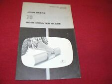 John Deere 78 Rear Mounted Blade Operator's Manual WPNH