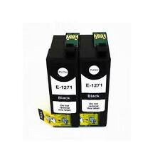 2 Black 127 Ink For Epson WorkForce 630 633 635 645 840 845 #127 Non-OEM