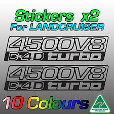 Land Cruiser 200 70 76 78 79 decals stickers for 1VD-FTV V8 Turbo-Diesel