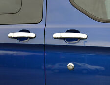 CHROME DOOR HANDLE TRIM SET COVERS SURROUNDS STEEL 5DR FOR FORD TRANSIT CUSTOM