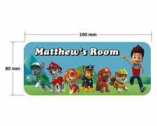 Paw Patrol Dog Gang Personalised Childrens Bedroom Door Plaque Sign Girls