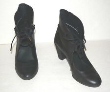 CAMPER HELENA ALTO BLACK LEATHER LACED ANKLE BOOTIES BOOTS WOMEN SZ 38/US 8 *EUC