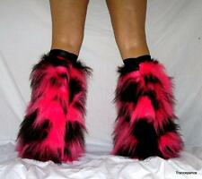 COW/CAMO Fluffies Fluffy Legwarmers Furry Boots Covers