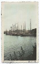 D063 Photo vintage Originale Tinted Concarneau bateau peche port Bretagne