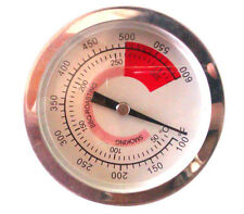 80mm Diameter 300°C BBQ Grill Thermometer Smoke Barbecue Grillen Temp Gauge