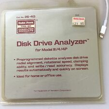 Tandy TRS-80 Model III / 4 / 4P - Disk Drive Analyzer Diskette - TESTED!  RARE!