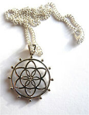 GORGEOUS FLOWER OF LIFE PENDANT & NECKLACE + FREE GIFT BAG