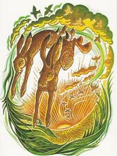 PAGAN WICCAN GREETING CARD - Heralds of the Dawn - HARE Birthday HEDINGHAM FAIR