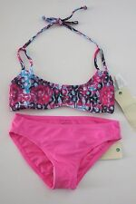 NWT Roxy 8 Girls 2 Pc  Bikini Swimsuit Altered Destination Pink Sugar Plum