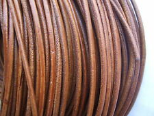 5 Meters Brown 4mm Round Genuine Leather Cord String Lace Thong Jewellery - HQ