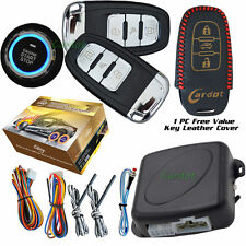 Intelligent Engine Start Car Alarm System With 2PC Smart Key Remotes
