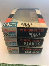 Lot Of 36 K Line Science Series Micro Slides- Plants-Sea Life- Mould & Yeast