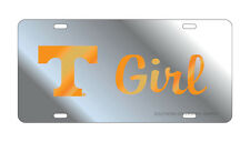 UT UNIVERSITY OF TENNESSEE Mirrored T GIRL License Plate Tag