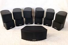 7 Bose Jewel Double Cube Speakers 1 Center Channel+6 Surround 7.1 & 7.2 Systems
