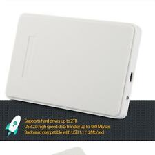 "USB 2.0 SATA 2.5""inch HDD Hard Disk Drive External Enclosure Case functional QN"