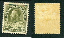 Mint Canada 20 Cent Grey Green KGV Admiral Stamp #119d (Lot #8646)