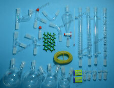 35PCS,24/40,New Advanced Organic Chemistry Glassware Kit,Laboratory Glass set