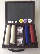 Cardinal's Texas Hold 'em Poker Set - Carrying Case, Chips, 2 Decks Cards, Dice