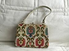 Vintage 1940s 50s Needlework Handbag Bag