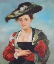 Echtes Ölgemälde auf Leinwand Frauenporträt im Antikstil meisterhaft gemalt