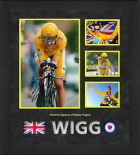 BRADLEY WIGGINS HAND SIGNED FRAMED PHOTO TOUR DE FRANCE WINNER VERY RARE.