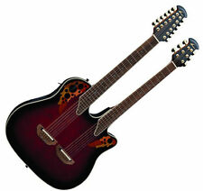 NEW Ovation CSE225-RRB Double-Neck Celebrity Flame Acoustic-Electric Guitar