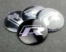 Set de 4 R ligne Polo VW Autocollant Roue center cap badge 57mm aluminium en forme de dôme hub