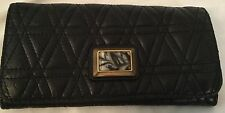 MARC BY MARC JACOBS BLACK QUILTED LAMB LEATHER PURSE CLUTCH WALLET