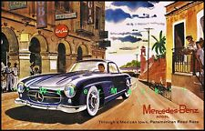 Mercedes Benz 300SL Pan American Road Race Vintage Poster Art Print Retro Style