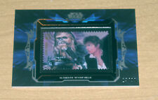 2015 Topps Star Wars Masterwork STAMP relic HAN SOLO & CHEWBACCA /99