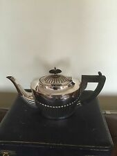 LOVELY ANTIQUE GADROONED  SILVER PLATED TEAPOT  (SPTP 2411)