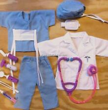 10pc NURSE OUTFIT, SCRUBS, DOCTOR Doll Clothes fits American Girl