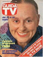 rivista GUIDA TV ANNO 1979 NUMERO 29 AVE NINCHI