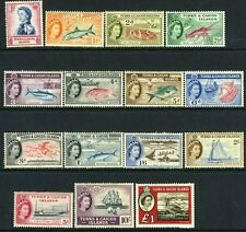 TURKS & CAICOS ISLANDS-1957 Set to £1 Sg 237-250/253 MOUNTED MINT V13656