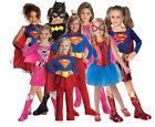 (R) Child DELUXE SUPERHERO Batgirl Supergirl Spidergirl Comic Fancy Dress Girl
