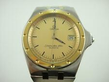 Authentic 1980's OMEGA Seamaster 120m 18K/SS Men's Date Quartz Cal:1342 watch