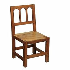 Natural Rustic Olive Beech Wood Childrens Playroom Bedroom Dining Kitchen Chair