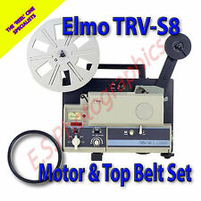 Elmo TRV-S8 Super 8mm decodificador Proyector cinturones Conjunto de 2