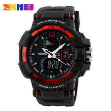 SKMEI 5ATM Water Resistant Men's Military Sports Quartz Wrist Watch Rubber Strap