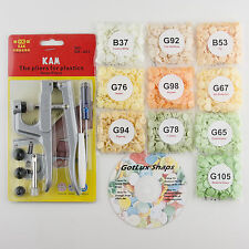 100 Baby Neutral Starter Pack Kit/Pliers KAM Snap/Plastic Snaps/Cloth Diapers