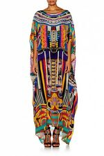 new CAMILLA FRANKS SILK SWAROVSKI WOVEN WONDERLAND ROUND NECK KAFTAN DRESS layby