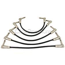 PLE - 5 X 6.35mm 90 Deg Angle Jack Plug Guitar Patch Lead Effects Pedal Cable
