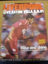 08/09/2001 Liverpool v Aston Villa  (Faint Crease).  Thanks for taking the time