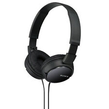 Genuine NEW Sony MDR-ZX110 MDRZX110 Headphones Compact Foldable Stereo (Black)