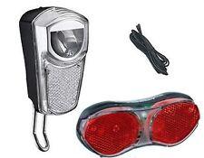 Fahrrad LED Lichtset für Nabendynamo 35 LUX Frontlicht, Rücklicht, Scheinwerfer