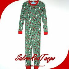 NWT HANNA ANDERSSON ORGANIC LONG JOHNS PAJAMAS PEANUTS SNOOPY'S STOCKING 120 6 7