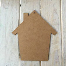 MDF Wood HOUSE HOME Shape Plaque Blank Make Your Own Plaque Craft Shape